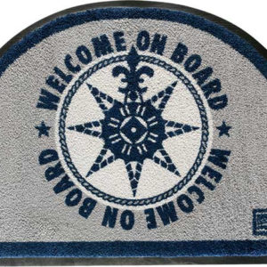 Alfombrita antideslizante WELCOME ON BOARD - Azul (media luna)